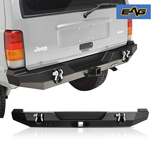 EAG Steel Rear Bumper with Hitch Receiver Fit for 1984-2001 Cherokee XJ