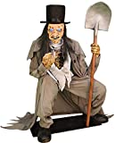 Seasonal Visions Crouching Grave Digger Animated Halloween Decoration Life Size