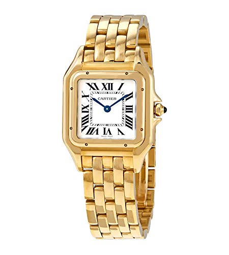 Cartier Panthere de Cartier Medium Silver Dial 18kt Yellow Gold Ladies Watch WGPN0009