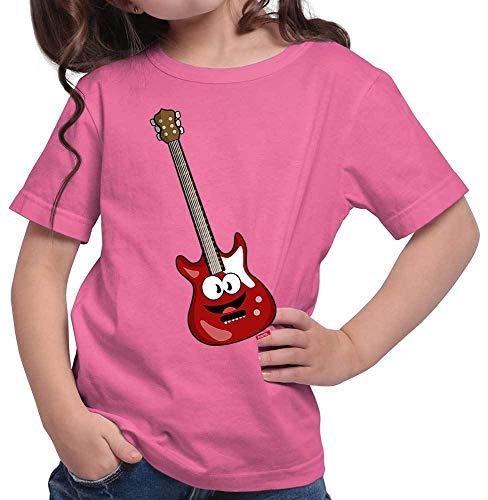 Hariz – Camiseta para niña, guitarra eléctrica, instrumentos para sonreír, divertida, tarjeta...