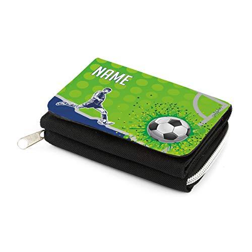 Striefchen® Geldbörse für Jungen mit Wunschnamen und Motiv Ihrer Wahl Fußball