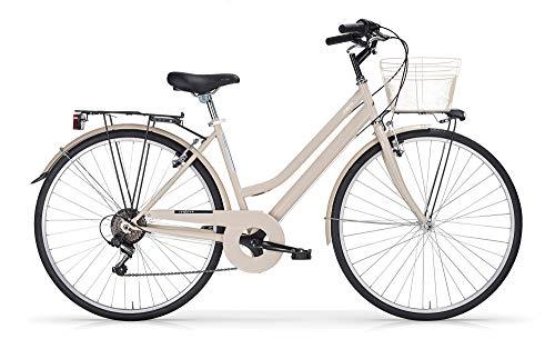 MBM Touring D TKK 28' Acc 6V, Bicicleta Mujer, Crema A07, XX