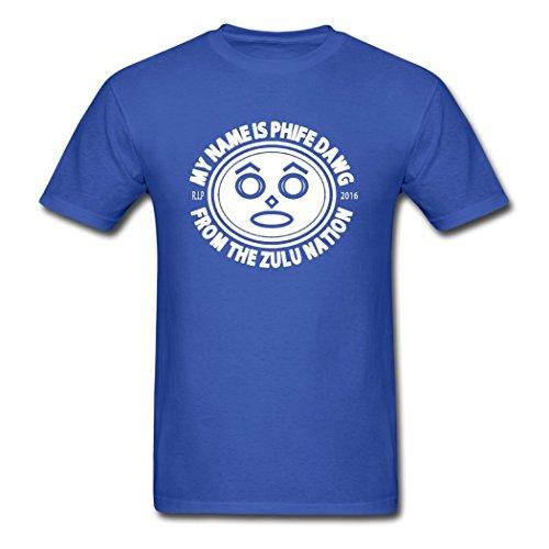 Hugogo Handsome Phife Zulu Nation Royal Blue Males Shirt XX-Large