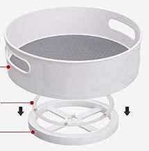 Good Grips Lazy Susan Turntable Non-Skid Under-Sink Pantry Cabinet Kitchen Organizer 30X30cm, White/Gray