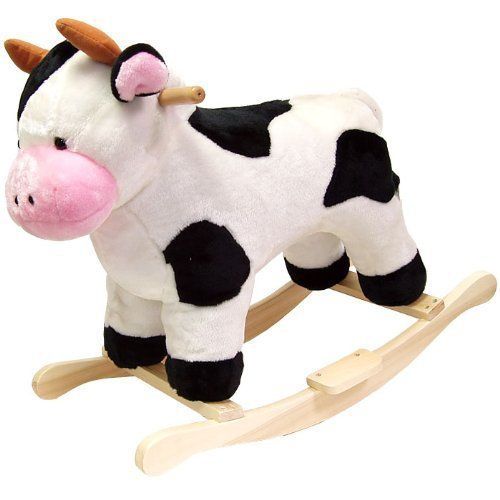 Happy Trails Cow Plush Rocking Animal by Happy Trails