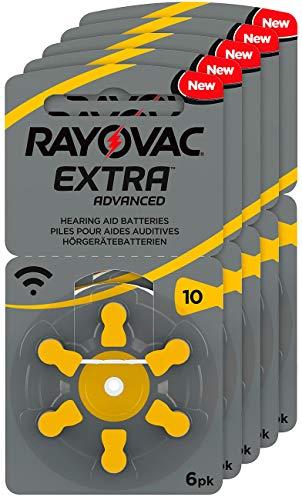 RAYOVAC Hörgeräte-Batterien 10 Extra Advanced 1,45V 105 mAh, 5X 6er Sparpack