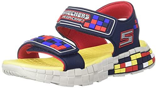 Skechers boys Mega-craft Sandal, Navy/Red, 5 Big Kid US