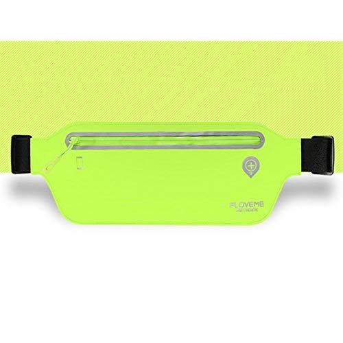 DFVmobile - Schutzhülle für Laufen Gehen Wandern Joggen Hüfttasche wasserdichte Gürteltasche Reflektierende für T-Mobile HTC ONE M9 -A (HTC HIMA) - Grün