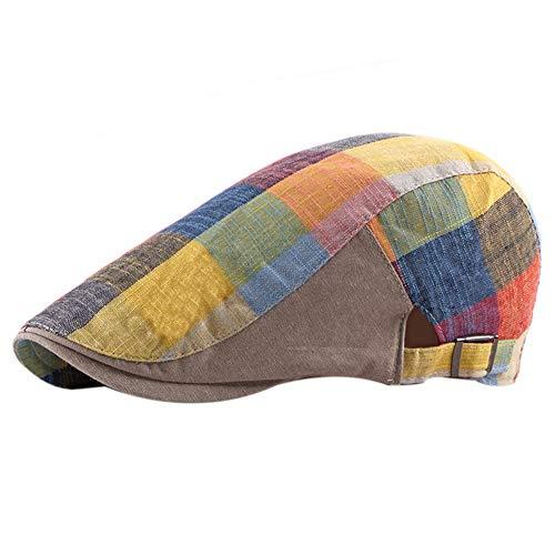 JUNGEN Sombrero Boina Hombre Mujer Boina Cuadros Colores