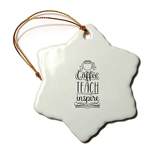 "7.6cm 3"" Ceramic Christmas Ornaments Coffee Teach Inspire Black Hexagonal Ceramics Keepsake Christmas Tree Hanging Decoration Winter Wonderland Xmas Holiday Party"