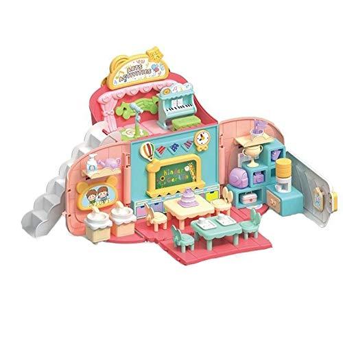 LYY Spaß Interaktiv Spielzeug Mädchen Kind 3 Spielhaus 4 Baby Puppenhaus Puzzle Prinzessin 2-5 Jahre alt 6 Geburtstag Neues Jahr Geschenk Mädchen (ohne Batterie) Funny Family Spielzeug