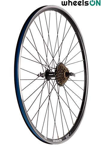 wheelsON QR 700c 28 inch Rear Wheel Quick Release 6/7 spd Shimano Freewheel Hybrid/Mountain Bike Black 36H (+ 7 Spd Shimano Freewheel)