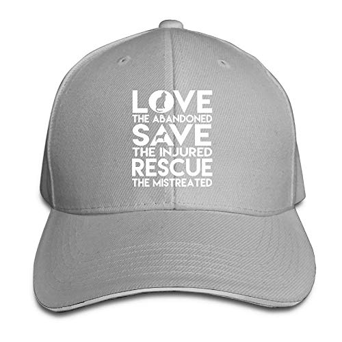 Presock Gorra De Béisbol,Gorro/Gorra Unisex Dog Rescue Animal Cat Rescue Adult Adjustable Snapback Hat