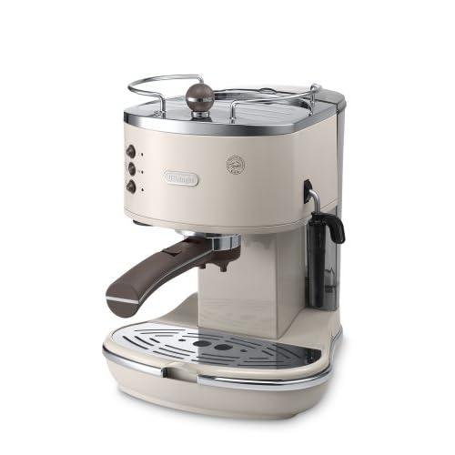 Delonghi ECOV310.BG Vintage Icona Pump Espresso and Cappuccino Machine 1.4 L, 1100 W – Cream