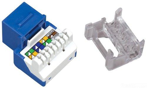 Allen Tel AT55–20Kategorie 5e Jack Modul, blau, 1Port, t568-a/B, Kündigung 4Paar 26bis 22Unshielded Twisted Pair Kabel, 8Positionen, 8Leiter