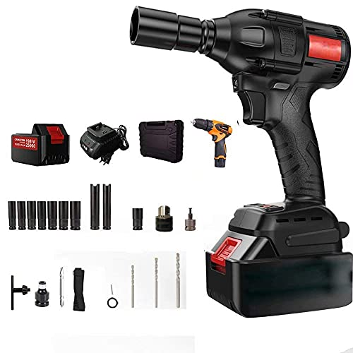 Diossad craftsman drill 198TV25000,320N.mHigh Torque Brushless Impact Wrench, Electric Impact Portable Electric Impact Wrench Kit, Tire Repair Tools