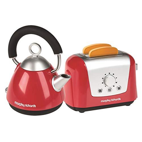 Spielzeug Toaster und Wasserkocher Morphy Richards Toast Teekocher Kinder Küche Küchen Zubehör Spielküche Rot Ohne Batterien Toast Automat 2 Toast Scheiben Haushalt Gerät Kochset Frühstücksset Wasser