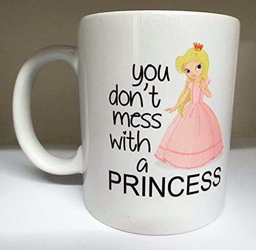 Taza de café de porcelana con diseño de princesa, para viajes, oficina, hogar, regalo para Navidad, Halloween, Acción de Gracias