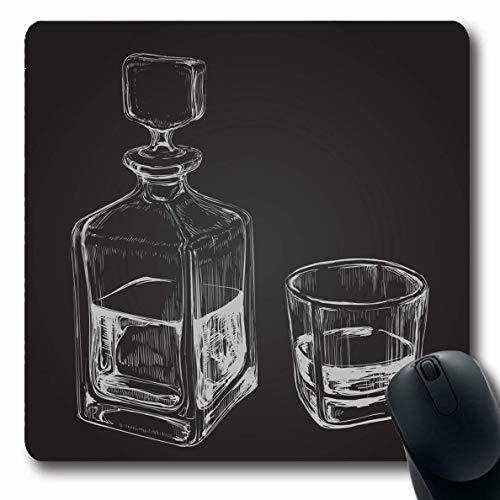 Mousepad Oblong Bourbon Sketch Whisky Reinheit Flasche Malz Glas Food Drink Dekanter Alkoholischer Alkoholismus Bar Getränk Rutschfestes Gummi Mauspad Büro Computer Computer Laptop Spielmatte