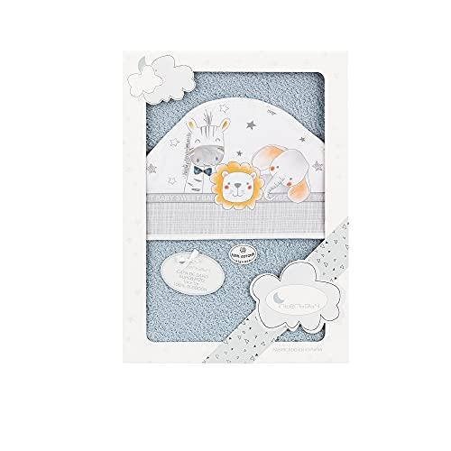 Interbaby 01229-31 - Capa de baño ANIMALITOS gris, unisex