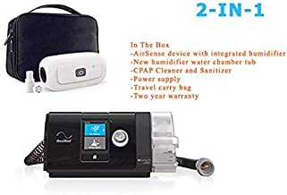 Res_Med_AirSense 10 Auto_Cpap Machine_with Heated Tube_CPAP Cleaner and Sanitizer_Universal Adapter and Sanitizing Bag Easy to Travel