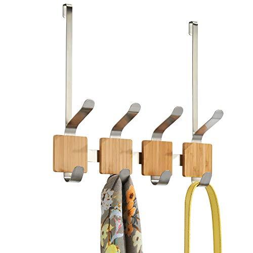 InterDesign Formbu - Percha con 4 ganchos, para colocar sobre perfil de...