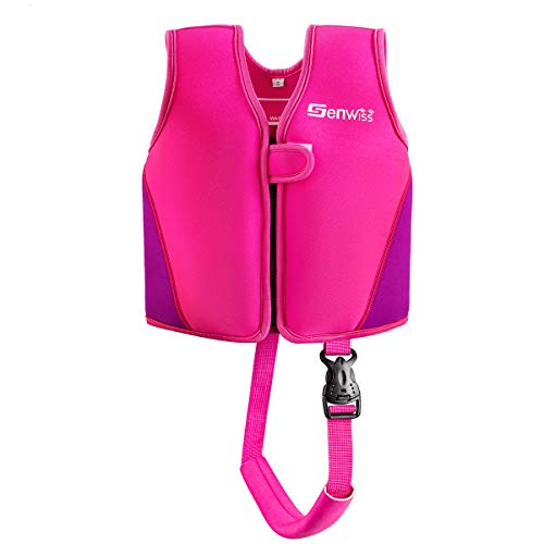 Baby Girl Swim Vest - Genwiss Toddler Swim Vest for Age 18 Months - 2 Years Baby Toddler Fit 20 - 28 lbs, Size Small, Pink