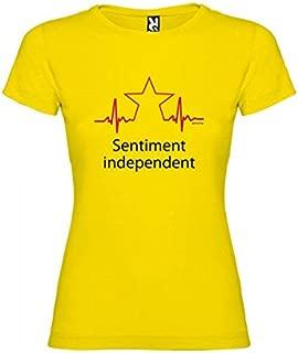 Camiseta Catalunya Sentiment Independent Manga Corta Mujer