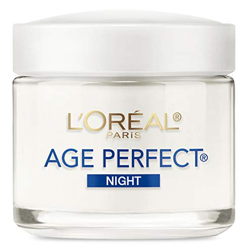 Night Cream By L'oréal Paris Skin Care, Age Perfect Anti-Aging Night Cream Face Moisturizer With Soy Seed Proteins, 3.4 Oz
