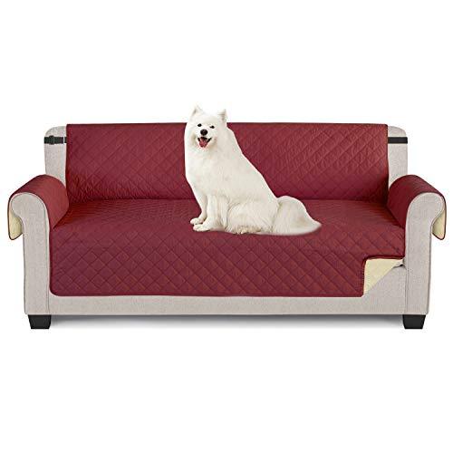 TAOCOCO Sofabezug, wasserdicht, Sofaüberwurf für Sofas und Sofas 3 posti 165 * 190cm Borgogna