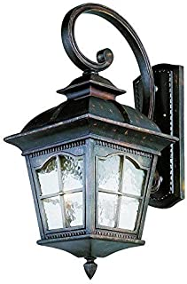 Trans Globe Lighting Trans Globe Imports 5424 AR Traditional Four Light Wall Lantern from Briarwood Collection in Bronze/Dark Finish, 30-Inch, Antique Rust