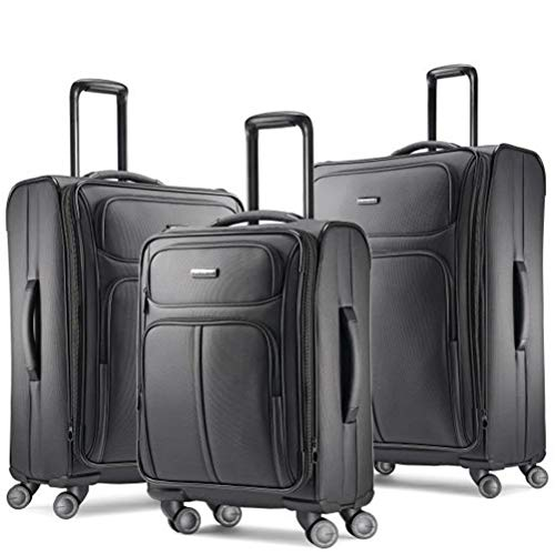 Samsonite Leverage LTE Softside Luggage, Charcoal, 3-Piece Set