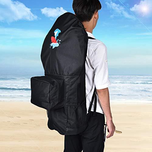 FOLOSAFENAR Bolsa para Tabla de Remo de Agua, Color Negro, Resistente, Duradero, Material Premium para Adultos, Adecuado para Viajes, Vacaciones en la Playa, Surf