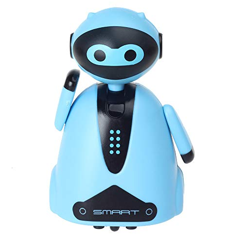 Teaboy Upgrade Magic Inductive Mini Robot Toys Follow Black Drawing Lines Educational USB Charging Toys for Kids Best Christmas Gift for Child Kids Boys Girls Birthday Xmas Gift