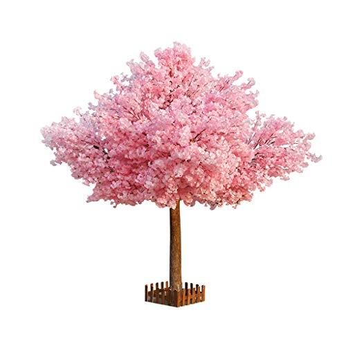 BOWCORE La decoración Planta del árbol de Gran floración Artificial 150cm Simulación Cerezo Cerezo Boda del Flor por decoración de Interiores Rosa Flores - 5 pies de Altura