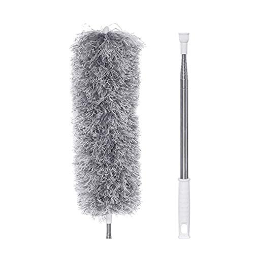 Cepillo de limpieza de coches Cepillo de polvo de polvo retráctil ultralongonal Cepillo de microfibra de acero inoxidable Herramienta de limpieza de huecos de acero arbitral para persianas de ventanas