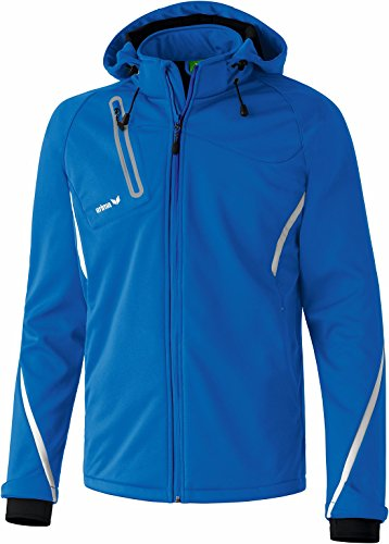 Erima Basic Fonction Veste Softshell Homme, New Royal/Blanc, XL