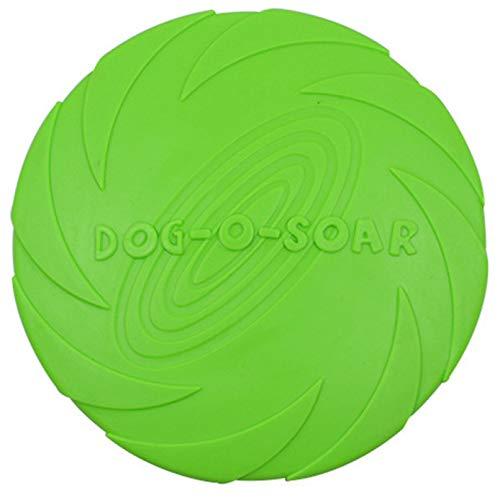 Protección del medio ambiente caliente Gel de sílice Discos voladores para mascotas suaves Juguetes para perros Platillo Juguetes para perros grandes o pequeños Tienda de mascotas Diámetro 15 18 22 CM