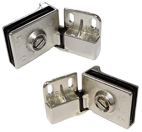 AERZETIX: 2x Bisagras para puerta de vidrio cristal C41061