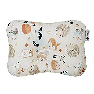 Baby Pillow for Newborn Breathable 3D Air Mesh Organic Cotton, Protection for Flat Head Syndrome
