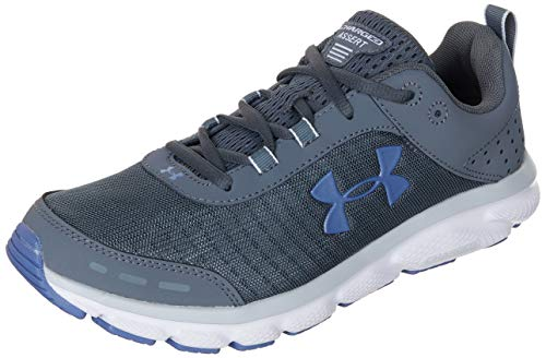 Under Armour Men's Charged Assert 8 Running Shoe, Pitch Gray (103)/White, 9.5