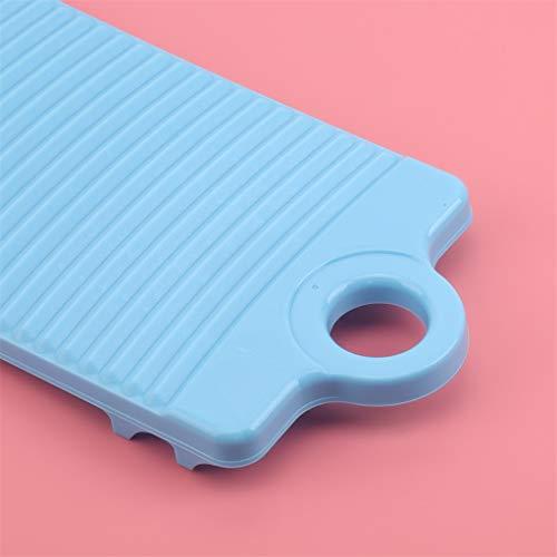 Garispace Mini Waschwaschbrett Rutschfestes Kunststoff Schrubbbrett Verdicken Tragbare Kleidung Reinigungswerkzeuge Rutschfestes Wäschezubehör Kunststoffwaschbrett (Blau)