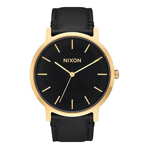 Nixon Armbanduhr Porter Leder Gold / Black