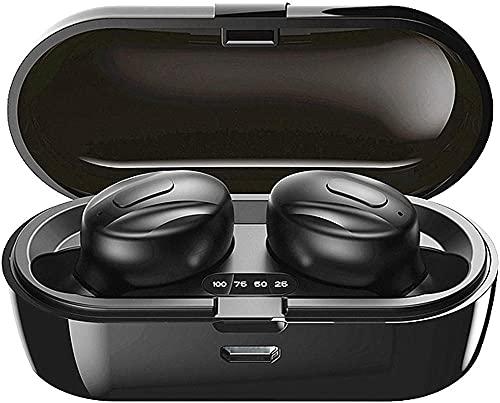 Draadloze hoofdtelefoon 2020 Nieuwe Bluetooth Oortelefoon BT5 0 Draadloze oordopjes met stereo-audio Microfoon in-oor Bluetooth-hoofdtelefoons met draagbare ladingscase voor iOS en Android (B12)