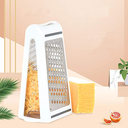 Kitchen Grater Cheese Grater, Ginger Grater and Lemon Blade Lid Stainless Steel - High Performance - for Vegetables, Fruits, Cheese, Chocolate