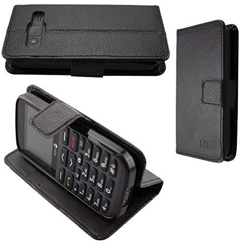 caseroxx Handy Hülle Tasche kompatibel mit Doro 1370/1372 Bookstyle-Hülle Wallet Hülle in schwarz