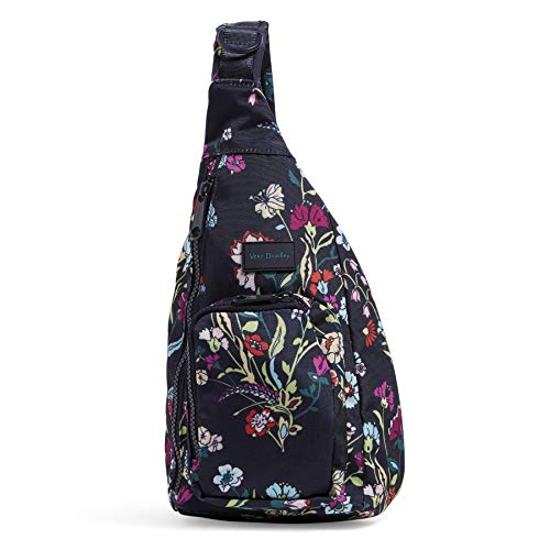 Vera Bradley Women's Recycled Lighten Up Reactive Mini Sling Backpack, Itsy Ditsy Floral, One Size