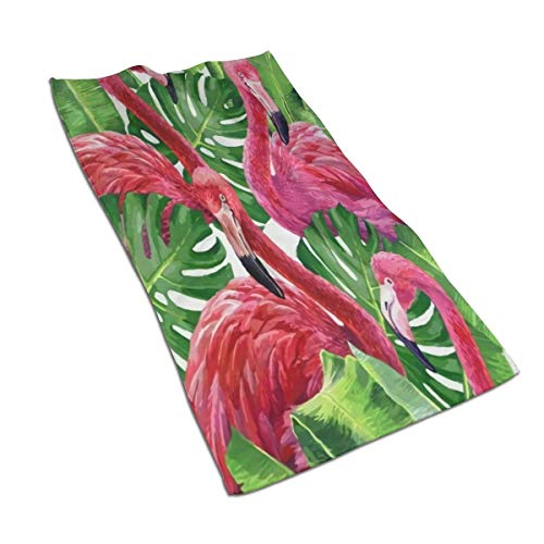 Toallas de baño de Microfibra de Flamenco Rosa de Colores, liviano, Suave, Altamente Absorbente, para baño, Gimnasio, Deportes, SPA, Viajes, Camping (27.5 'x 15.7'