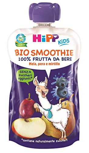 HiPP - Smoothies Bio, Gusto Mela, Pera E Mirtillo, 6 Confezioni Da 120 Ml - 720 g
