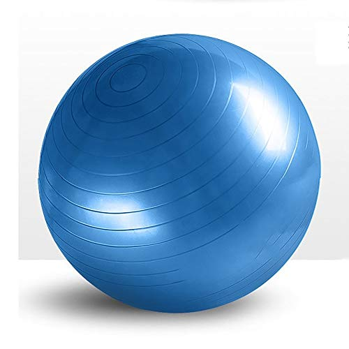 ERWEF Yoga Ball, Schweizer Fast Ball mit Luftpumpe, Durchmesser: 75 cm, Pilates Rehabilitation Ball, Can Bär 1000 Pfund (Color : Blue, Size : 75cm)